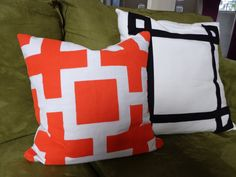 Hand PAINTED Pillow Cover!! by BeesSneeze on Etsy