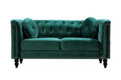 BOHO STYLE: The Green Velvet Sofa, 6+ Stylish Options - Hey, Djangles. Bohemian Living Rooms, Living Room Grey, Living Room Sofa, Chesterfield Couch, Green Velvet Sofa, Sofa Inspiration, Modern Sofa, Boho Style, Boho Fashion