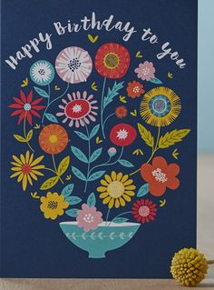 Designer Jane Farnham has recently added some new cards and notebook designs to her Not on the High Street shop . Jane exhibited at BCTF . Birthday Wishes, Birthday Cards, Happy Birthday, Birthday Quotes, Pattern Art, Print Patterns, Scandinavian Folk Art, Bunt, Flower Arrangements
