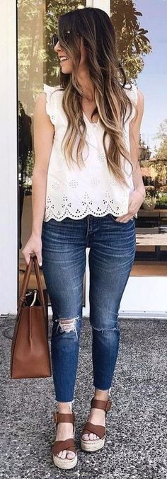 summer style obsession white blouse rips