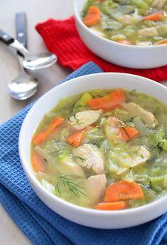 Zupa kapuściana z kalarepą - etap 1
