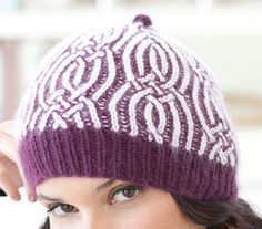 Brioche Knitting With Two Colors | ... Marchant's Crossing Over - a hat made with two-color brioche cables