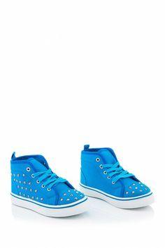 Coco Jumbo Dots Hi Top Studded Canvas Sneaker (Little Kid)