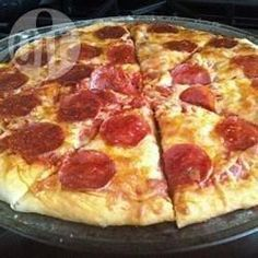 Foto da receita: Massa de pizza rápida e fácil I Love Food, Good Food, Yummy Food, Pizza Recipes, Cooking Recipes, Love Pizza, Pizza Pizza, Portuguese Recipes, Quiches