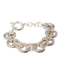 Silver & Gold Filigree Chain-Link Bracelet ~ sale @ $149.99 Reg. $475.00 ~ more choices 80% OFF