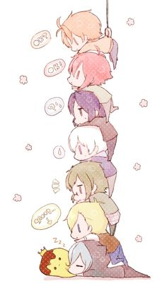 So cuteee~~ >v< Cute Anime Pics, Cute Anime Boy, Cute Anime Couples, Kawaii Chibi, Kawaii Anime, Roald Dahl, Blonde Anime Girl, Anime Child, Bts Chibi