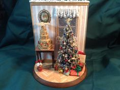 Inside view of my 1/2 and 1/2 Christmas scene. 10/24/2014