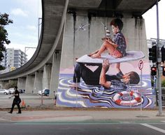 Street Art by Fintan Magee | Showcase of Art & Design