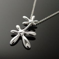 Leaflower Long Pendant, £103, now featured on Fab.