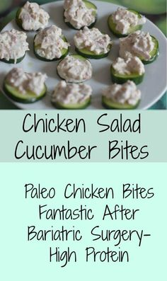 chicken salad Paleo style chicken bites for healthy living and gastric bypass patients.