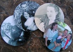 Photo coasters from old cds