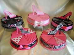 Parisian style favor box cakes