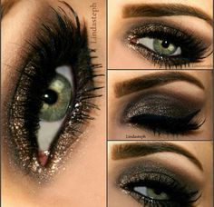 Gorgeous bronze smokey eyes