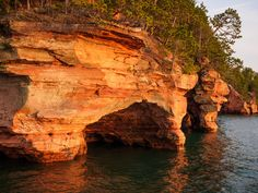 Sea Cave 5 by David Lemke on Capture Wisconsin // This photograph was made along the mainland shore of the Apostle Islands National Lakeshore. This is the same area many of us saw as ice caves from a few winters past. Please click the pic for better viewing and thanks for looking.