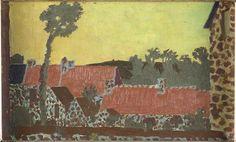 """""""Les Toits rouges"""" de Maurice Denis (1870-1943). Saint-Germain-en-Laye, musée Maurice Denis - Le Prieuré - Photo (C) RMN-Grand Palais / Benoît Touchard"""