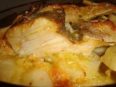 Receitas ao Desafio: Bacalhau no forno em cama de cebola e batatas