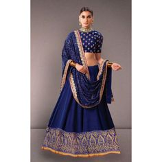 Bollywood Replica - Ethnic Wear Bhagalpuri Blue Lehenga Choli - 60011