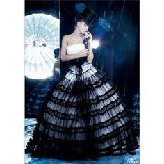 Gothic and Black Wedding Dresses - Handmade Victorian Steampunk and Gothic Wedding Dresses Collection from Best Alternative Bridal Gowns Designers including Romantic Medieval Witchy and Pagan Unusual Wedding Dresses, Wedding Dresses Photos, Wedding Dress Styles, Dream Wedding Dresses, Bridal Dresses, Wedding Gowns, Tulle Wedding, Whimsical Wedding, Unusual Dresses
