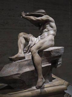 GIAN LORENZO BERNINI  Model for The Nile  1649-50  terracotta  15.38 inches (40.1 cm) high