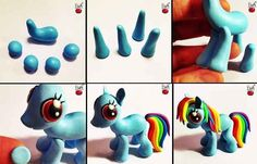 multiple My Little Pony charms and share them with your Bronies. Make multiple My Little Pony charms and share them with your Bronies. Cute Polymer Clay, Cute Clay, Polymer Clay Charms, Polymer Clay Projects, Polymer Clay Creations, Diy Clay, Clay Crafts, Fun Crafts, My Little Pony Birthday