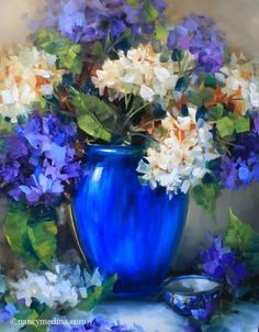 painting of yellow roses blue hydrangea - Yahoo Search Results