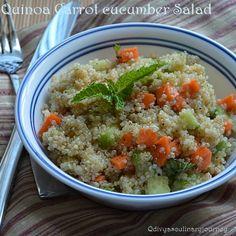 Quinoa Carrot Cucumber Salad (Healthy and Vegan)