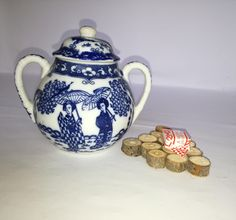 Zuccheriera made in japan-zuccheriera decori blu-zuccheriera vintage-regalo per lei-vecchia zuccheriera di lovelymore su Etsy