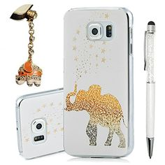 S6 Case, Galaxy S6 Case - YOKIRIN Print Painted Cute Elephant PC Case Hard Cover for Samsung Galaxy S6 2015(Package Includes: One Phone Cases, One Stylus Pen, One Dust Plug)