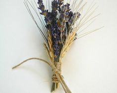Custom Lavender  and Wheat Boutonnieres or Corsages
