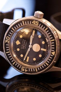 Blancpain Fifty Fathoms. Having just praised Seiko the skies, I must admit that I would dump my whole collection under a bus to get my hands on one of these sweet sweet babies.