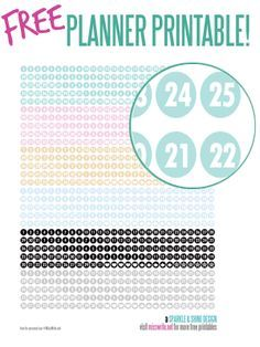 FREE printable number stickers