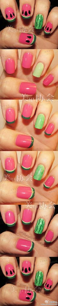 Watermellon nails