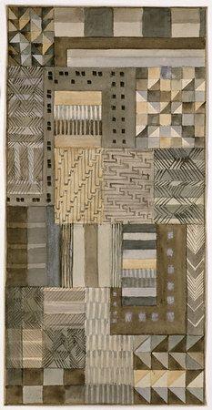 Gunta Stölzl--design for fabric in jacquard technique 1927