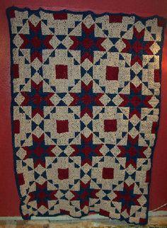 Free Crochet Pattern Happy Yellow House.com - Starcrossed Quilt - by C. L. Halvorson