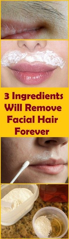 Having Problem With Facial Hair ? With Using These 3 Ingredients You Will Get Ri… Having Problem With Facial Hair ? With Using These 3 Ingredients You Will Get Rid Of It Forever. Amazing Effect In Just 15 Minutes! Beauty Skin, Health And Beauty, Hair Beauty, Best Hair Removal Products, Hair Products, Health Products, Unwanted Hair, Unwanted Facial, Skin Care