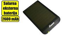 Solarna eksterna baterija 2600 mAh Xwave Solar 26 (crna). Kompaktnih dimenzija, pogodna za Android telefone, kao i ostale mobilne uređaje. Poseduje USB izlaz i uz nju dolazi micro USB kabal.