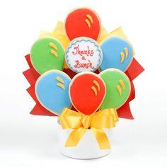 Thanks Balloon Cutout Cookie Bouquet