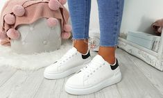 Platform Contrast Heel Trainers Lace Up Trainers, Adidas Stan Smith, Leather And Lace, Party Wear, Adidas Sneakers, Contrast, Platform, Stylish, Casual