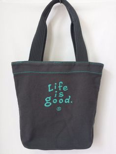 """Life Is Good Bag Tote Blue with Heart """"Do what you like, like what you do"""" #LifeIsGood #TotesShoppers"""