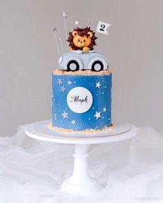 Fondant Cake Designs, Fondant Cake Toppers, 2nd Birthday Cake Boy, Cars Theme Cake, Lion Cakes, Puppy Cake, Baby Boy Cakes, Themed Cakes, Cake Decorating