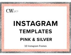 Instagram Templates - can be used for any Square Social Media or Blog Posts Create beautiful and on-brand graphics with these easy to use templates Pretty Frames: 10 separate files Ideal for creating Instagram graphics and digital scrapbooking You will need an image editing platform such as Adobe Photoshop/Canva/Designsta or similar to use to create graphics. Personal Use and small business use only; cannot sell or claim graphics as own or use in any commercial digital product....
