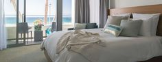 Hotel is San Diego's only luxury, lifestyle hotel on the beach. With pristine ocean views, plus a clean and modern design with high-end amenities! Seaside Resort, Most Beautiful Beaches, Beach Hotels, San Diego, Modern Design, Tower, Blanket, Boutique, Luxury