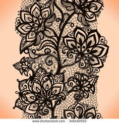 Abstract seamless lace pattern with flowers. Infinitely wallpaper, decoration for your design, lingerie and jewelry. Your invitation cards, wallpaper, and more. Feather Tattoo Design, Owl Tattoo Design, Feather Tattoos, Nature Tattoos, Flower Tattoo Designs, Bird Tattoos, Tatoos, Lace Garter Tattoos, Lace Tattoo