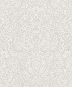 Rasch Textil Jaipur 227832 Tapete Vlies Ornamente Struktur grau silber Glitzer