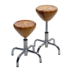 Miles & May: fantastic stools made from cast-off wood in Geneva, New York