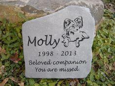 Custom engraved Pet Memorial Stones by www.StoneCreationsNW.net