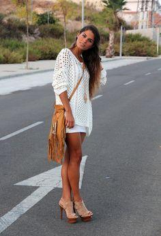 Chunky Knit  , Zara en Camisetas, Spell en Bolsos, Jessica Simpson en Tacones / Plataformas
