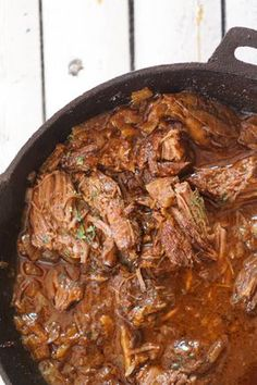 Cast Iron Skillet Braised Beef Short Ribs