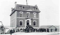 The Victoria Customs House, home of Victoria's first seismograph, circa The building still stands on the corner of Wharf and Broughton streets. Victoria City, West Coast Canada, Victoria Vancouver Island, Customs House, Victoria British Columbia, Emily Carr, Sense Of Place, Old Pictures, Vintage Photos