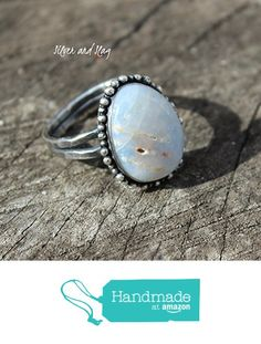 California Rough Opal set in Sterling Silver Ring - Size 8 from Silver and Slag http://www.amazon.com/dp/B01BE0UD7E/ref=hnd_sw_r_pi_dp_3nnTwb1MGWBCM #handmadeatamazon